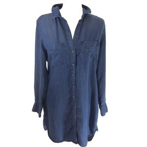 Cloth and Stone Denim Shirt Dress